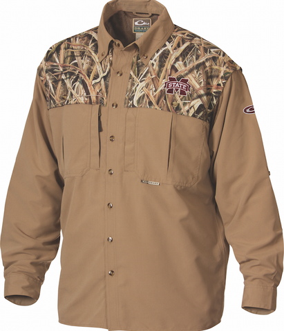 Mississippi State Camo Wingshooter's Shirt L/S