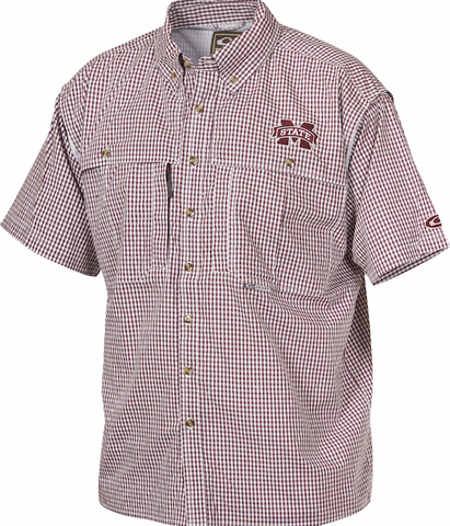 Mississippi State Plaid Wingshooter's Shirt Short Sleeve