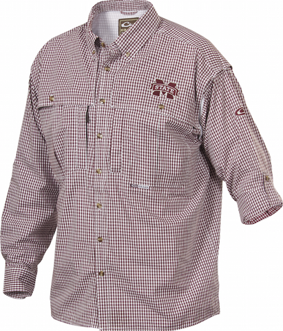Mississippi State Plaid Wingshooter's Shirt Long Sleeve