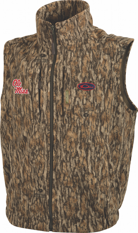 Ole Miss Camo Windproof Layering Vest