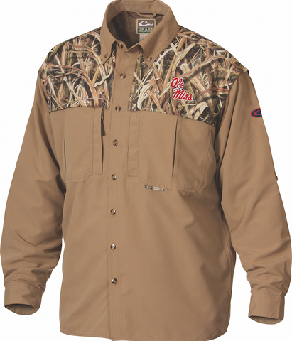 Ole Miss Camo Wingshooter's Shirt Long Sleeve