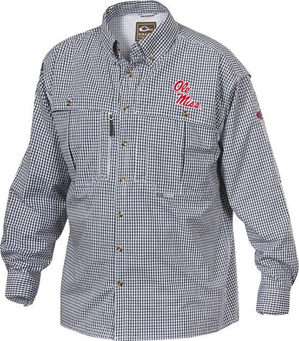 Ole Miss Plaid Wingshooter's Shirt Long Sleeve