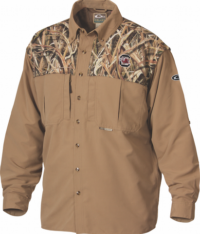 South Carolina Camo Wingshooter's Shirt L/S