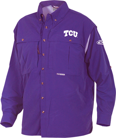 TCU Cotton Wingshooter's Shirt Long Sleeve