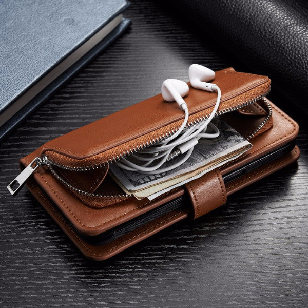 Luxury Genuine Leather Wallet Case with Card Slots