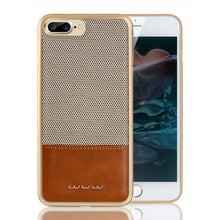 iPhone 7, 7 Plus PC + Leather Coated Case