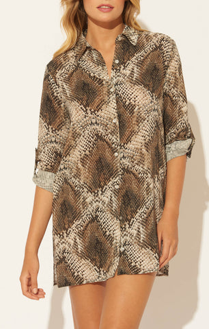 Skin Games Caftan Cover Up