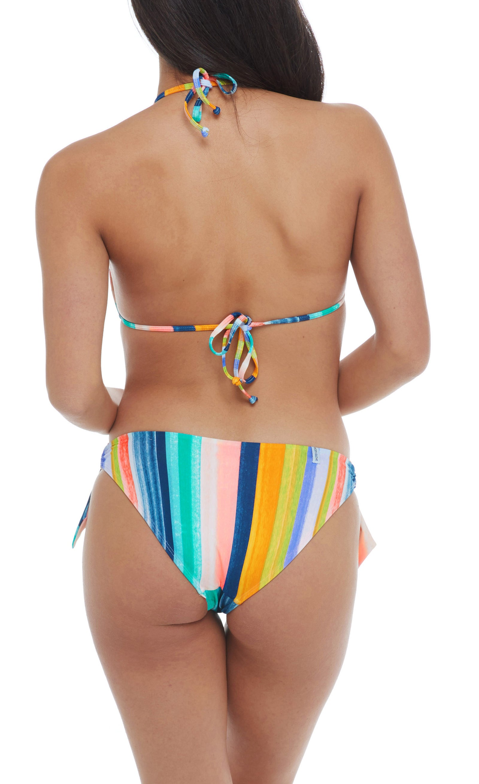 Bikini bottom Faux sash sides with ring detail Full coverage 80% nylon, 20% Spandex Product Number: 39-536135
