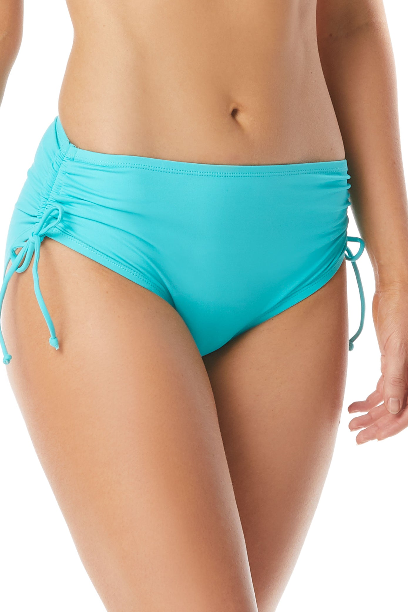 Beach House Paloma Beach tunnel side bottom Mid back coverage Hip minimizer, tummy slimmer Partially lined Hand wash Nylon/Elastane