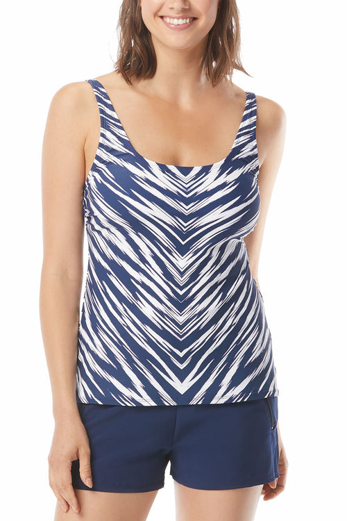 Tankini Top Adjustable Straps Removable Soft CupsUPF 50+ 4 Way Stretch Soft Touch Comfort Fabric with LYCRA® XTRA LIFE™ Chlorine Resistant Fully Lined 85% Nylon/15% LYCRA® XTRA LIFE™ Hand Wash Cold, Line Dry Product Number: H67728