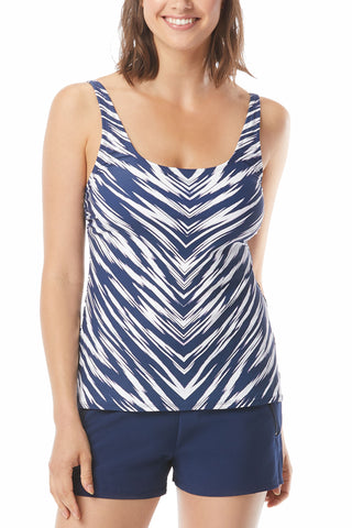 Set Sail Mesh Layer Tankini Top