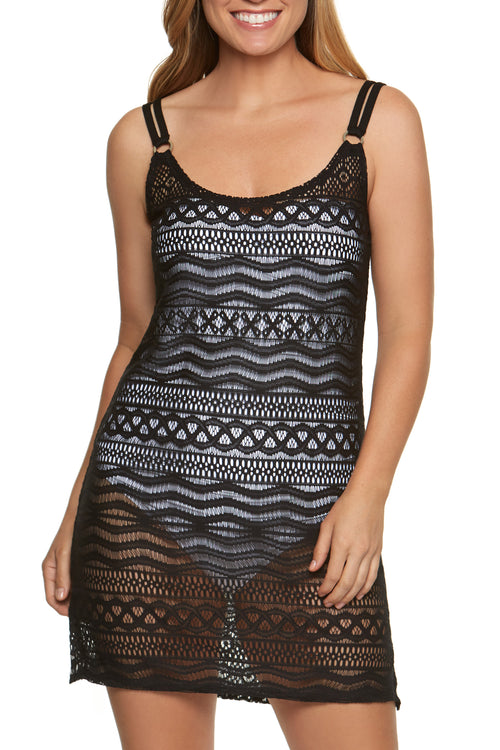 Fits true to size, order your normal size Scoop-neck Tank dress Poly crochet Hand wash Product Number: 11109