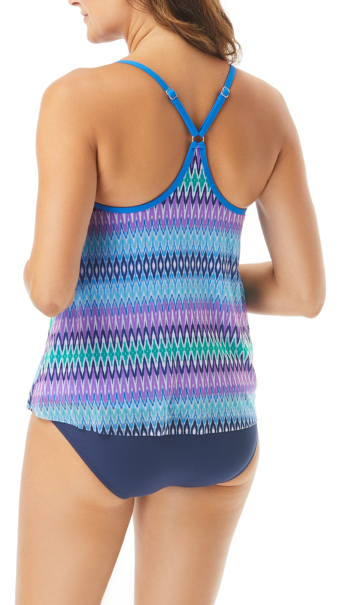 Underwire Tankini Top Adjustable Straps Removable Soft Cups UPF 50+ 4 Way Stretch Soft Touch Comfort Fabric Chlorine Resistant Fully Lined Swimsuit Fabric: 85% Nylon/15% LYCRA® XTRA LIFE™ Mesh Fabric: 95% Nylon/5% Spandex Hand Wash Cold, Line Dry Product Number: H31715