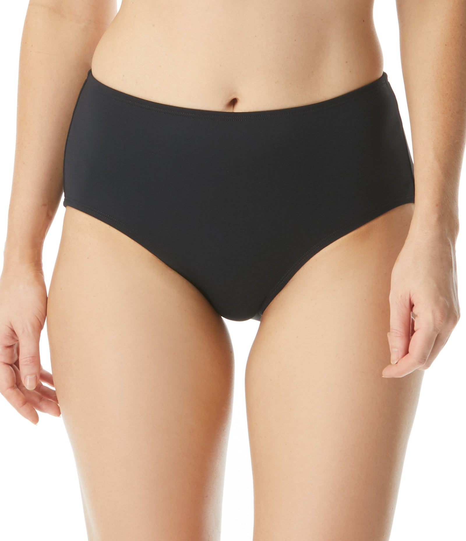 High Waisted Bikini Bottom Full coverage 50+ UPF 4 Way Stretch Soft Touch Comfort Fabric with Lycra® Chlorine Resistant Swimsuit Fabric: 85% Nylon/15% LYCRA® XTRA LIFE™® Hand Wash Cold, Line Dry Product Number: H58433