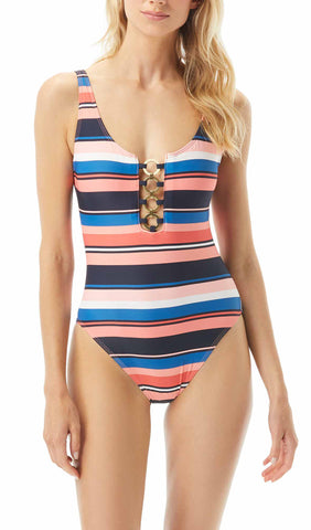 Iconic Solids One Shoulder One Piece