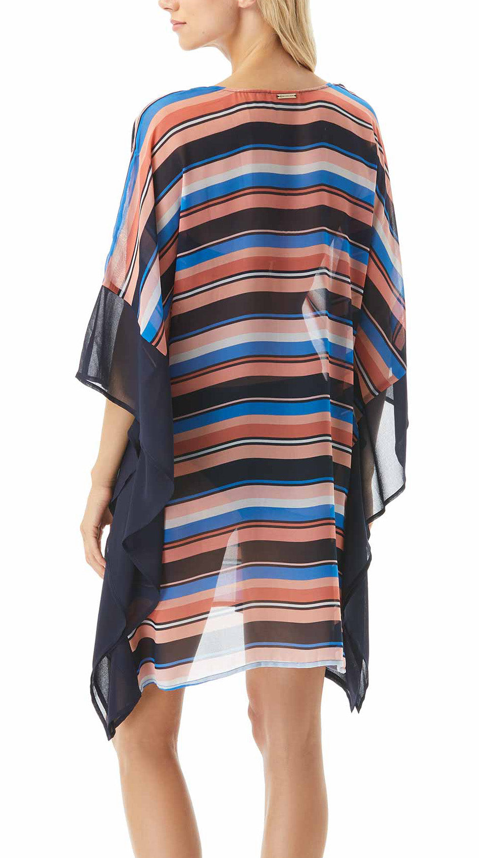 Pullover V-neck Short kaftan sleeves Unlined Stripe pattern Imported Polyester, chiffon Hand wash Product Number: MM1T769