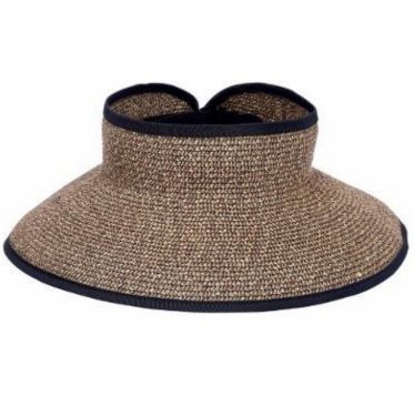 Natural with Black Accent Wide brim for extra sun protection Adjustable to fit most head sizes Open top