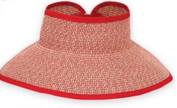 Red Wide brim for extra sun protection Adjustable to fit most head sizes Open top