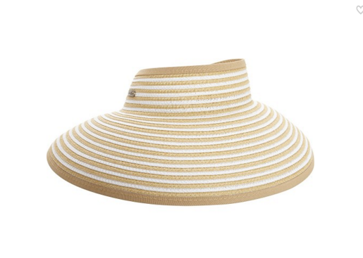 Wide brim for extra sun protection Adjustable to fit most head sizes Open top  Features a roll up function, and foldable for easy storage or travel natural and white