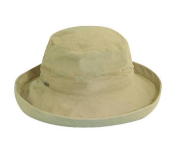 "Packable big brim hat 50+ UPF protection  3"" big brim hat 100% Cotton natural"
