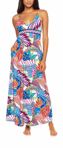 Itty Prints Flower Scoop Pocket Dress