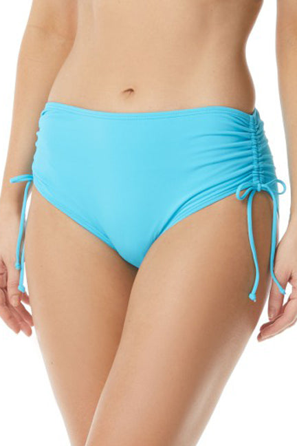 High Waisted Bikini Bottom Adjustable Side Ties Full Coverage 50+ UPF 4 Way Stretch Soft Touch Comfort Fabric with LYCRA® XTRA LIFE™® Chlorine Resistant Swimsuit Fabric: 85% Nylon/15% LYCRA® XTRA LIFE™® Hand Wash Cold, Line Dry Product Number: H58179