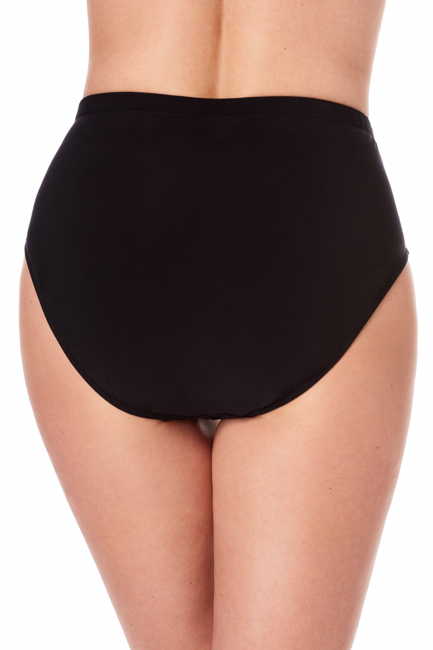 Swimwear sizing fits smaller than apparel sizing, order one size up for more coverage Designed for a classic fit Pull on Full coverage High rise Tops and bottoms sold separately Nylon/lycra Hand wash