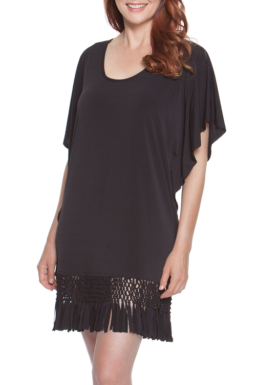 Summer Sunset Fringe Tunic Plus Size