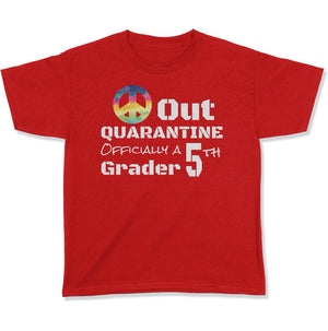 Back To School First Day Of School Peace Out T Shirt For 5th Grade T Shirt - Grade Level Shirts