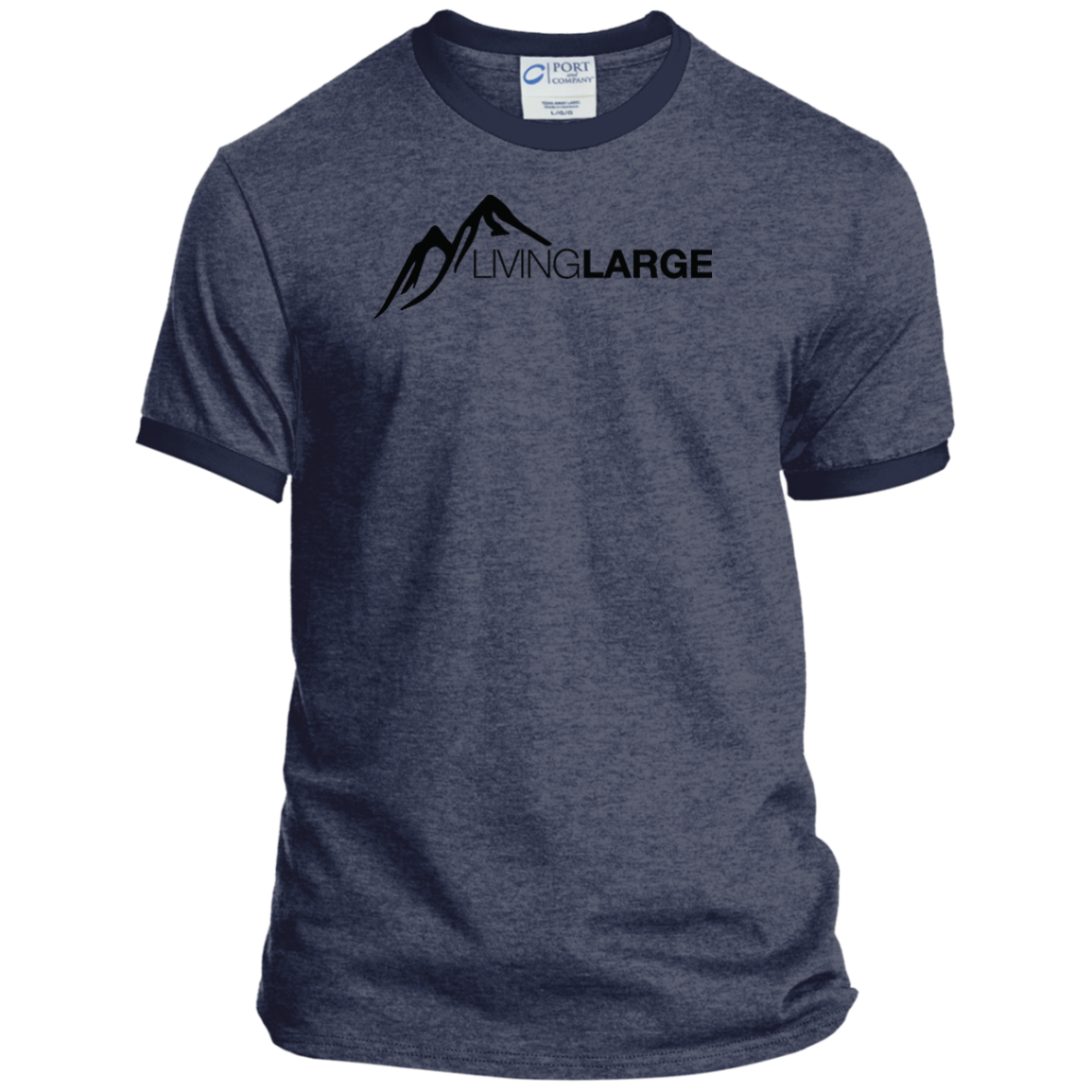 Living Large - The Mindful Marcus Peak Ringer Tee