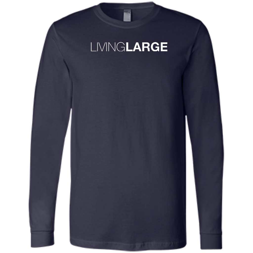 Living Large - The Blissful Bella Men's Long Sleeve Jersey T-Shirt