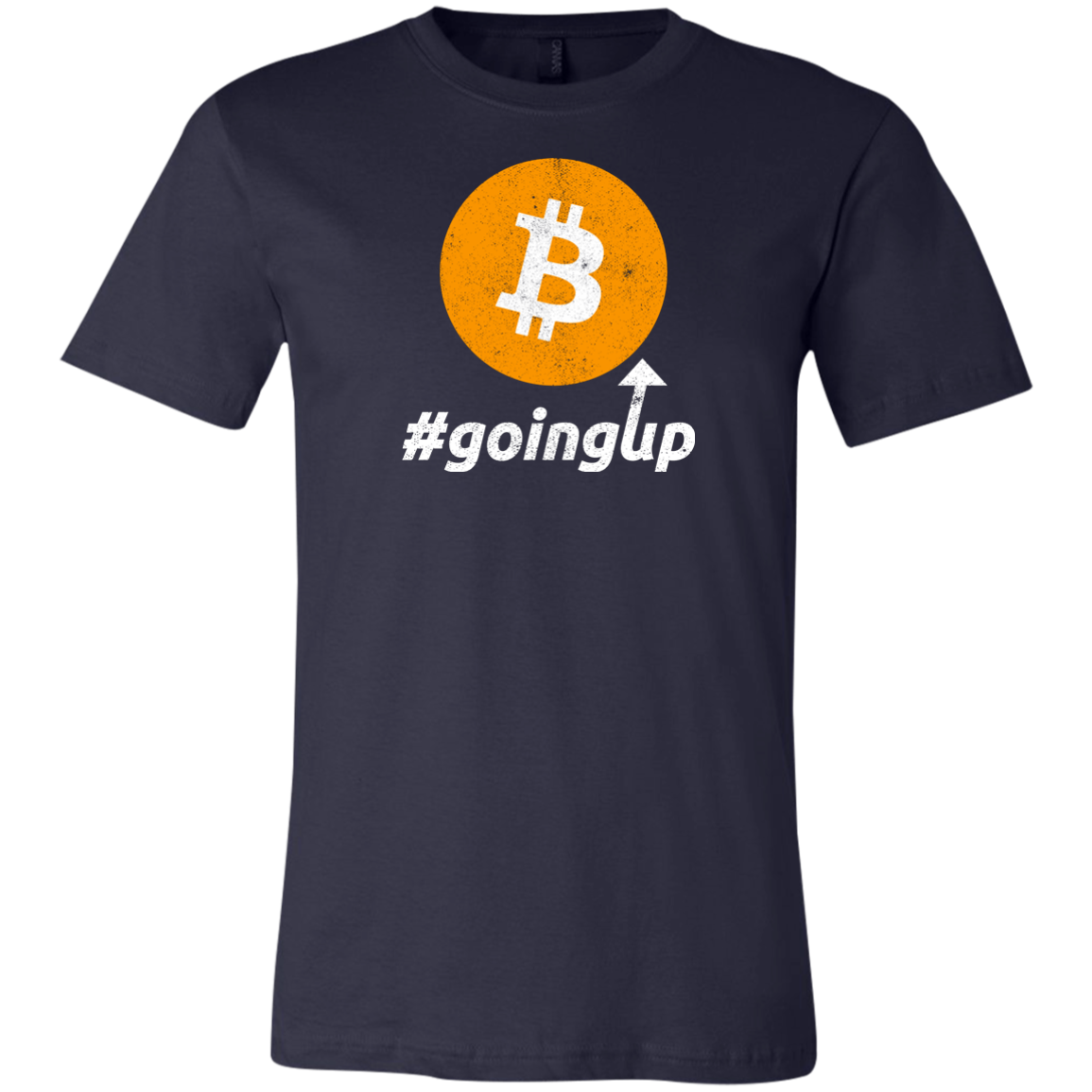 Funny Bitcoin BTC Going Up Cryptocurrency Investing Unisex Jersey Short-Sleeve T-Shirt