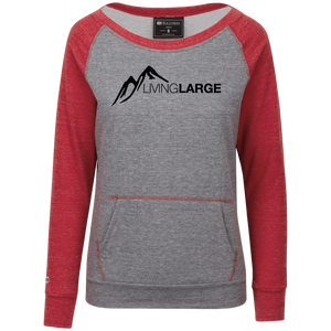 Living Large - The Modest Martha Peak Collection Junior's Vintage Terry Fleece Crew