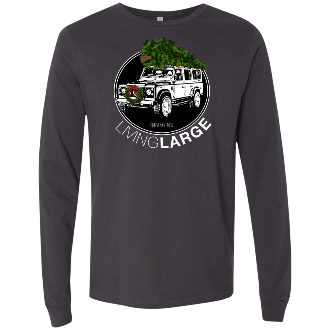 Living Large - The Blissful Bella Christmas Men's Jersey Long Sleeve T-Shirt