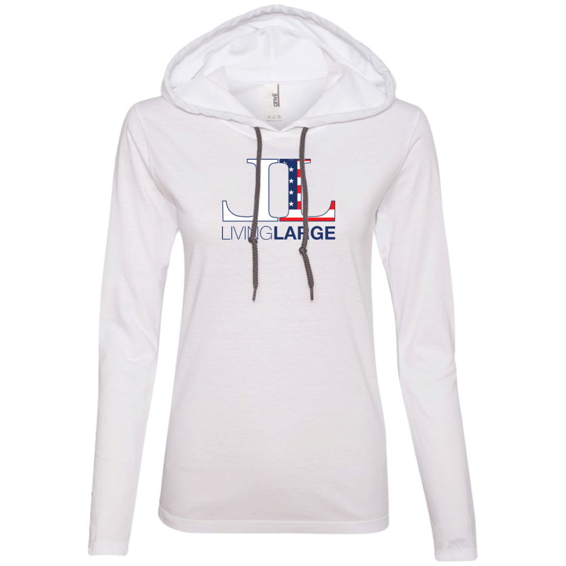 Living Large - The Edgy Ezra All American Women's Long Sleeve T-Shirt Hoodie