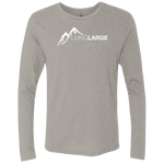 Living Large - The Dapper Dan White Peak Collection Men's Triblend Long Sleeve Crew