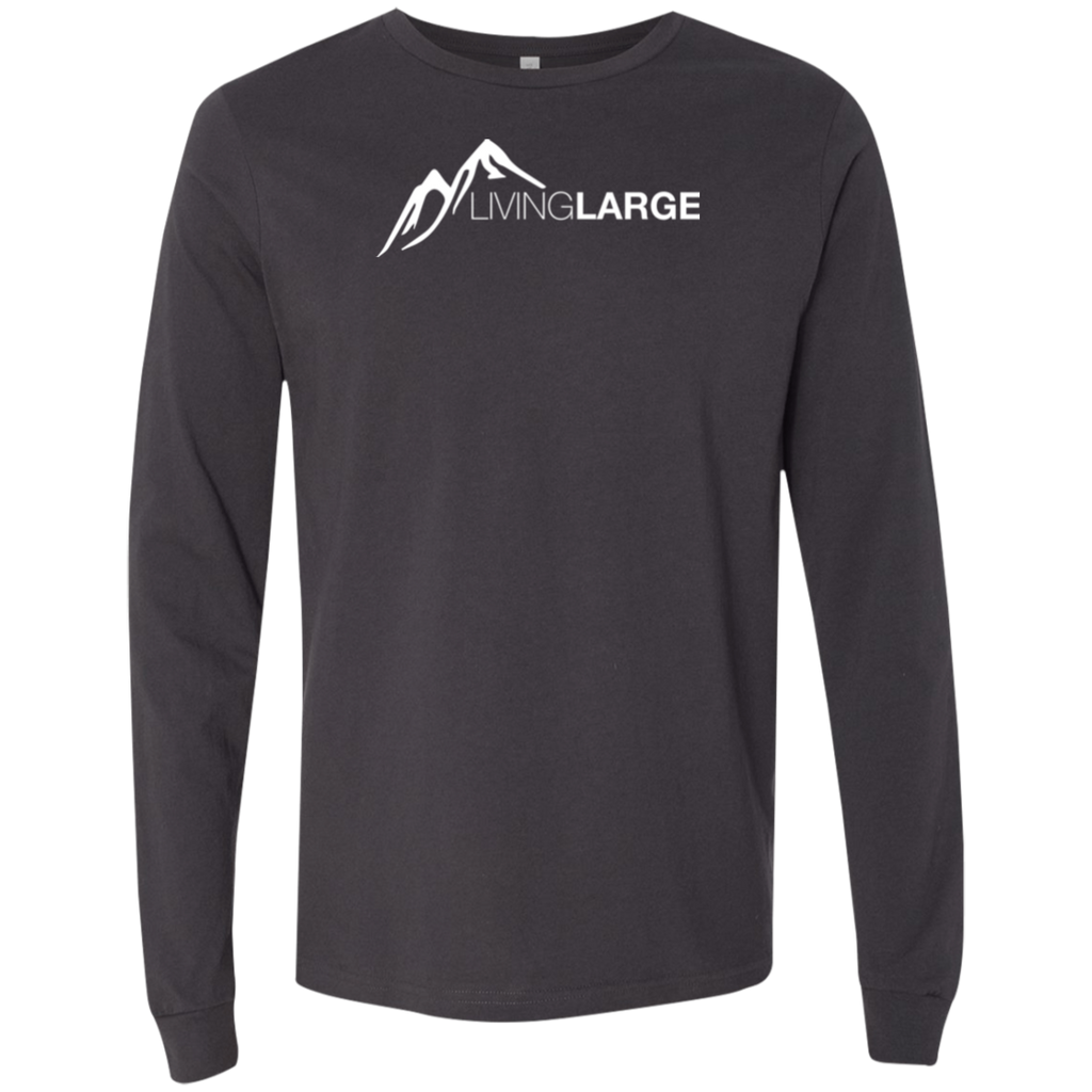 Living Large - The Blissful Bella White Peak Collection Men's Long Sleeve T-Shirt