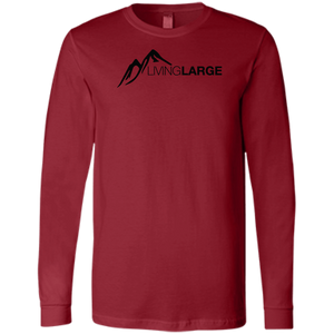 Living Large - The Blissful Bella Peak Men's Jersey Long Sleeve T-Shirt