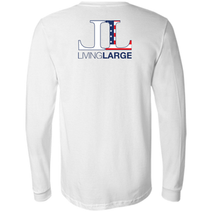 Living Large - The Blissful Bella All American Men's Jersey Long Sleeve T-Shirt