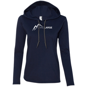 Living Large - The Edgy Ezra White Peak Collection Ladies Long Sleeve T-Shirt Hoodie