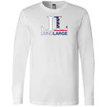 Living Large - The Blissful Bella All American Men's Long Sleeve T-Shirt