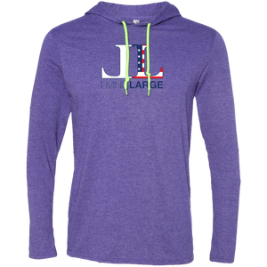 Living Large - The Edgy Ezra All American Long Sleeve T-Shirt Hoodie