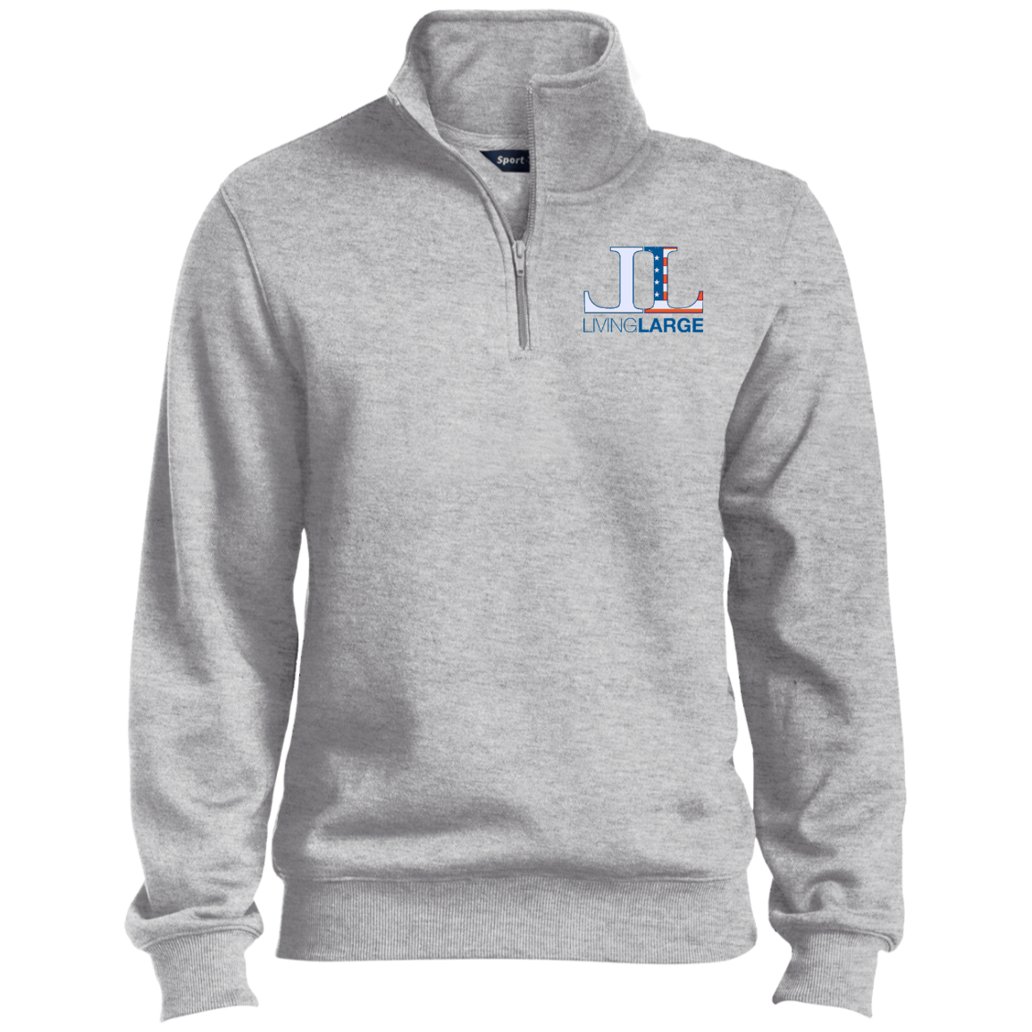 Living Large - The Simply Sporty All American Tall 1/4 Zip Sweatshirt