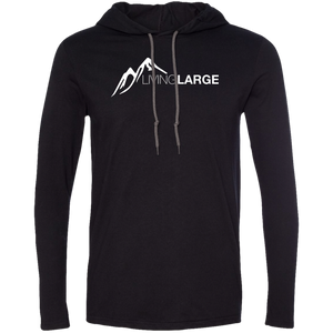 Living Large - The Edgy Ezra White Peak Collection Men's Long Sleeve T-Shirt Hoodie