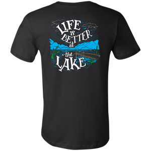Living Large - The Blissful Bella Life Is Better At The Lake Unisex Short Sleeve T-Shirt