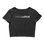Living Large - The Blissful Bella Women's Crop Top Tee