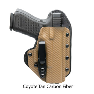 Hidden Hybrid Holsters Coyote Tan Carbon Fiber Kydex