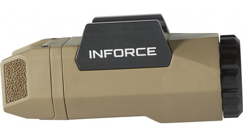 INFORCE APL UNIVERSAL 400 LUMEN, LED, w/MIL-STD-1913 RAILS. FDE. SKU: A-06-1