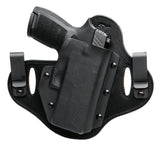 Hidden Hybrid Holsters Sig Sauer - P320 Carry / Compact with Lima320 Grip Laser - IWB & OWB - Double Clip