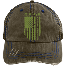 Distressed Unstructured Trucker Cap-Men's wear